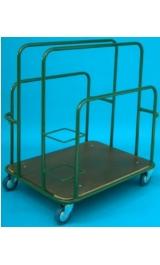 Carrello Porta Pannelli Diviso In 4 Scomparti Cm100x75x114 Portata Kg3
