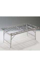 Banco In Alluminio Pieghevole Per Bancarelle Mercati 100x150xh63
