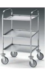 Offerte pazze Comparatore prezzi  Carrello Acciaio Inox 3 Vasche Servizio Mm580x510xh1100 Kg80  il miglior prezzo