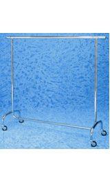 Stender Appendiabiti Espositore Cromato Ruote 80 Mm1500x530x1520