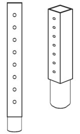 Prolunga Verticale Per Piantana Espositore 2001f Mod2002f