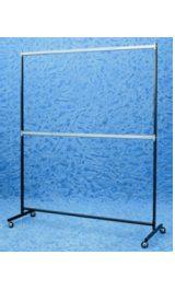 Stender Appendiabiti 2 Barre Espositore Ruote 80 Mm540x1550x1900