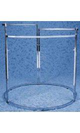 Stender Appendiabiti Espositore Smontabile Cromato H100 149cm