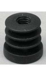 Inserto Alettato Porta Piedino O Ruote In Plastica Pz1 4016f