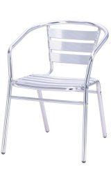 Sedia In Alluminio Con Braccioli Impilabile Pz2 40214rf Arredo Bar Piz