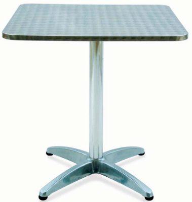 Dettagli su Tavoli Tavolo Bar Quadrato Alluminio Ed Acciaio Inox Cm  70x70xh.70
