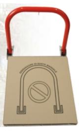 Archetto Manuale Antisosta Ribaltabile Colore Rosso 510avrf