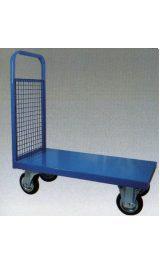 Carrello A Piattaforma Con Singola Sponda Fissa In Rete Mm900x600xh930