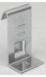 Supporto 6024f Per Ripiano Legno Cristallo Pz10 Per Griglia Espositiva