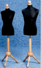 Busto Sartoria Uomo O Donna Base Legno Classica Testina 602f