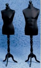 Busto Sartoria Uomo O Donna Base Trepiede Legno Testina 605f