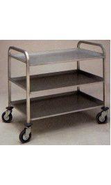 Carrello In Alluminio Leggero A 3 Tre Ripiani Mm650x425xh895