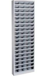 Scaffali A 76 Caselle Fisse 6x20 Porta Oggetti Mm 600x150x2000h