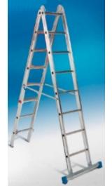 Offerte pazze Comparatore prezzi  Scala Componibile Alluminio 2 Tronchi Pioli 06x2 Portata Kg150  il miglior prezzo
