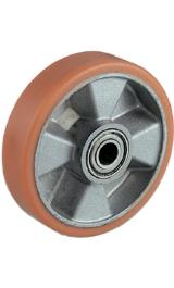 Ruota Per Transpallet In Alluminio Ricoperta Poliuretano Cuscinetti Pe