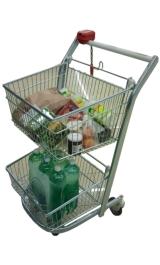 Carrello Spesa Da Supermercato Self Service A Doppia Cesta Per Arredo
