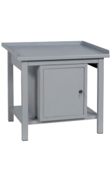 Banco Da Lavoro In Ferro Armadietto Piano Inferiore Cm100x75x90