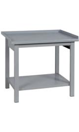 Banco Da Lavoro In Ferro Con Piano Inferiore Cm100x75x90