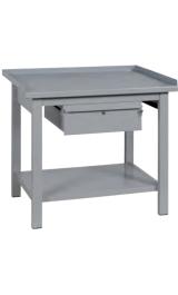 Banco Da Lavoro In Ferro 1 Cassetto Piano Inferiore Cm100x75x90