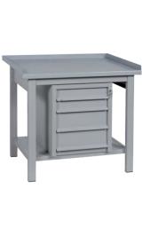Banco Da Lavoro In Ferro 4 Cassetti Piano Inferiore Cm120x75x90