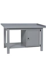 Banco Da Lavoro In Ferro Armadietto Piano Inferiore Cm150x75x90