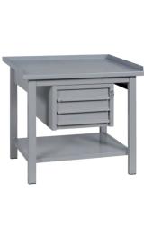 Banco Da Lavoro In Ferro 3 Cassetti Piano Inferiore Cm120x75x90