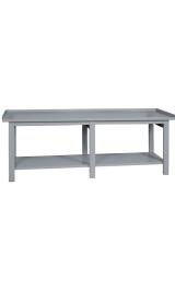 Banco Da Lavoro In Ferro Con Piano Inferiore Cm250x75x90