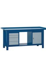 Banco Da Lavoro Cassettiera Armadietto Piano Inferiore 200x75x90
