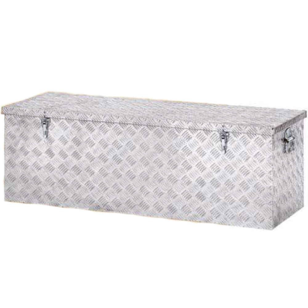 Baule Box Contenitore In Alluminio Cm82x33xh30 Cassa Porta Attrezzi Mu