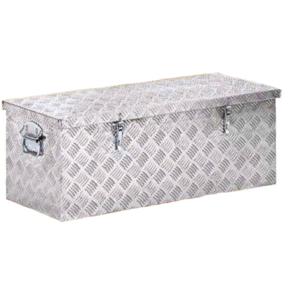 Baule Box Contenitore In Alluminio Cm120x43xh40 Cassa Porta Attrezzi M