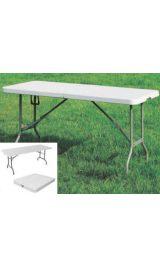 Tavolo Con Piano E Gambe Pieghevoli Per Catering 180x76x74 In Polietil