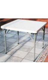 Tavolo Quadrato In Plastica Polietilene Con Gambe In Ferro Pieghevoli