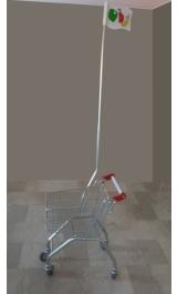 Bandiera Per Carrello Bambini Da Supermercato Self Service Baby Lt25