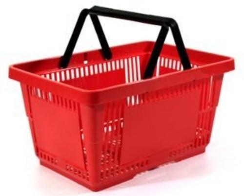 Cestello Cestino Per La Spesa In Plastica A Braccio A 2 Manici Per Arr