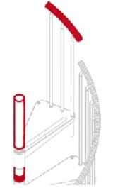 Kit Prolunga Palo Con Corrimano Scala A Chiocciola Exterior Zink