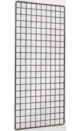 Griglia In Filo Metallico Per Esposizione Cm40x200 Uso Ganci Porta Bli