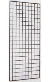 Griglia In Tondino Metallico Espositiva Cm40x150 Per Ganci Porta Blist