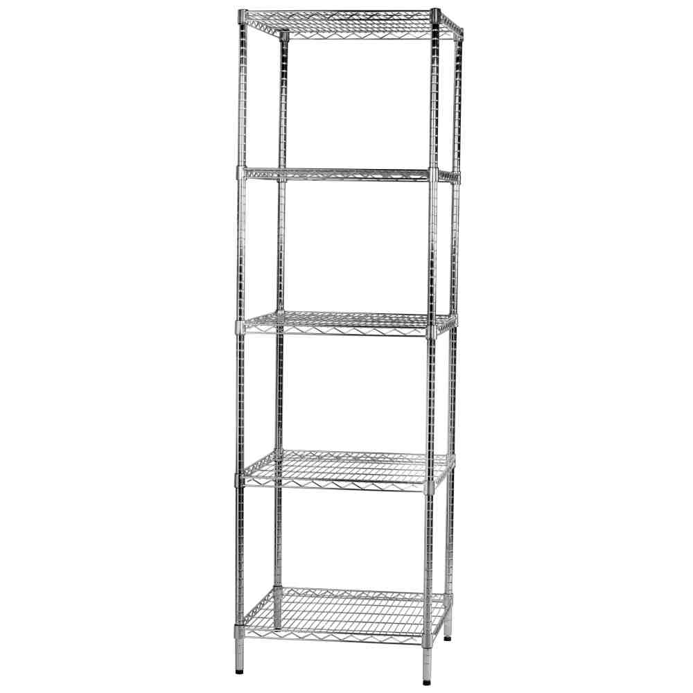 Étagère robuste 5-String chrome chromé cm.60x60xh200 multifonctionnel Commercial et Home Furnishing Displays
