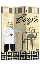 Paravento In Legno 3 Ante Parete Divisoria Fantasia Caffe 40x180