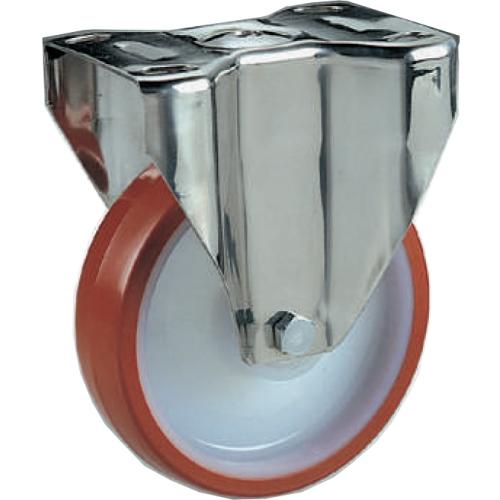 Ruota Per Carrelli In Nylon Poliuretano Supporto Fisso Inox D100