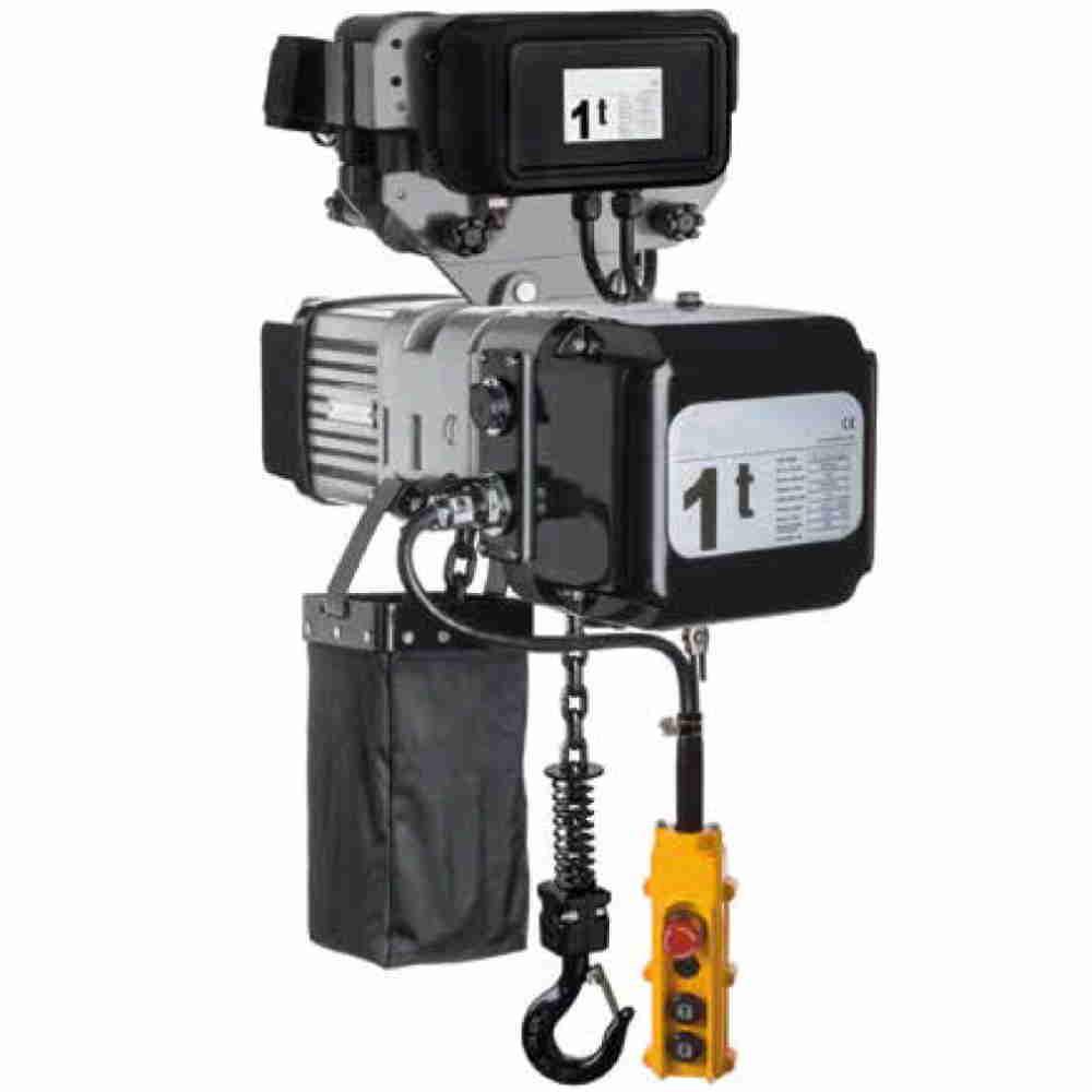 Paranco Elettrico Professionale Trifase Carrello Elettrico Kg 3000 Dop