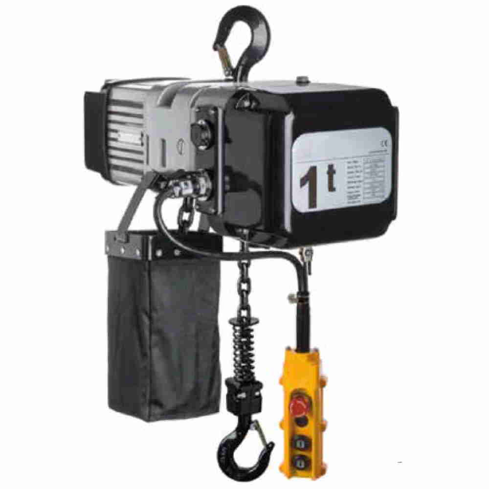 Paranco Elettrico Professionale A Catena Trifase Kg 5000 Doppia Veloci