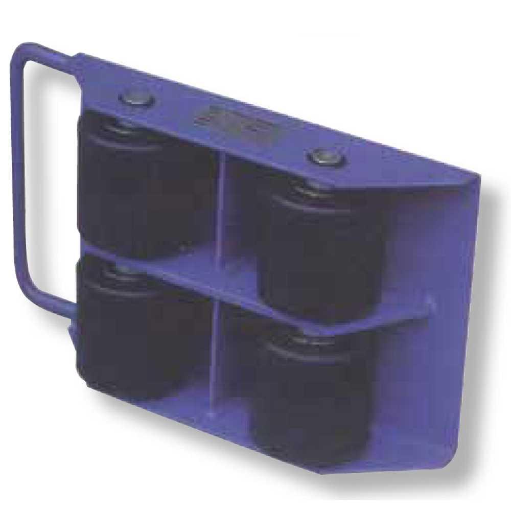 Pattino Industriale Con 4 Rulli Fissi Portata Kg3000 Carrellino Ergono