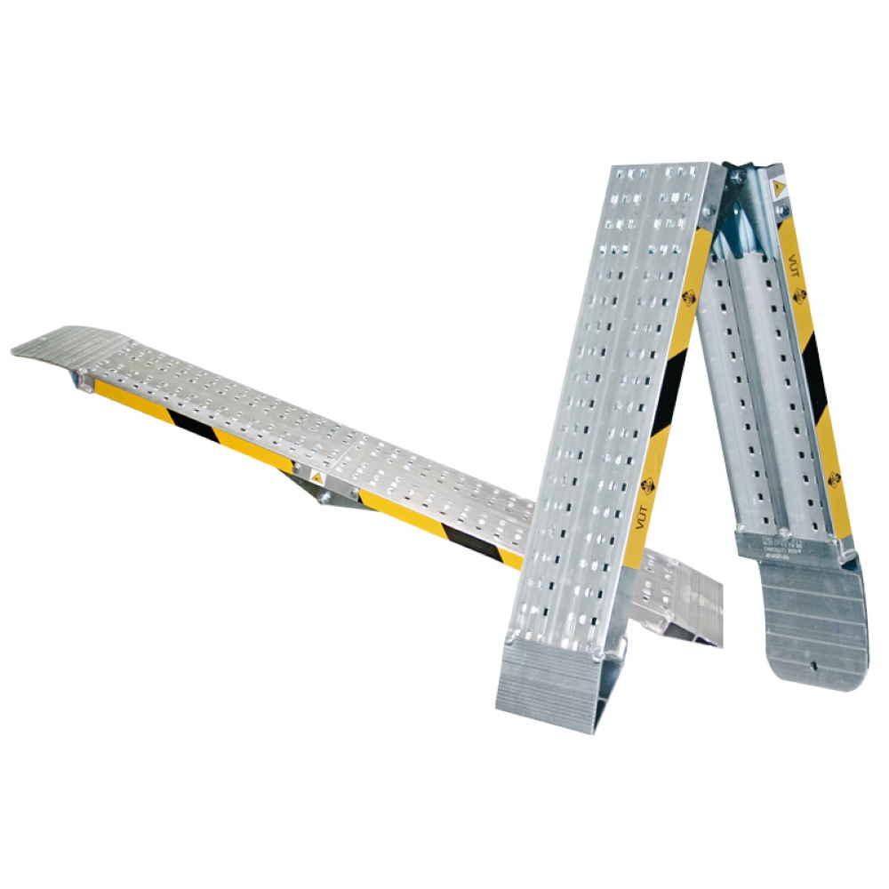 Rampe Di Carico Pieghevoli Senza Bordo Mm2500 Pedane In Alluminio Per