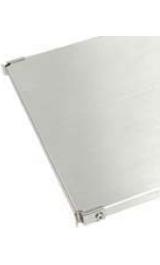 Piani In Acciaio Inox Pz4 40x56cm Per Scaffali Librerie Galileo