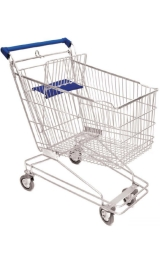 Carrello Per Supermercato Self Service Spesa Da 80 Litri Arredo Movime