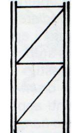 Fiancata Montata 1500xh2500mm Per Scaffalatura Incatro Sif1525f