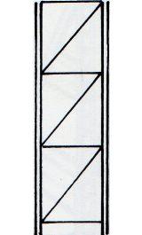 Fiancata Montata 700xh3500mm Per Scaffalatura Incatro Sif735f