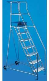 Scala A Castello In Alluminio Classica Professionale 6 Gradini H150m A