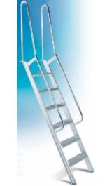 Scala Per Soppalco In Alluminio Con Gradini Piani Corrimano M1